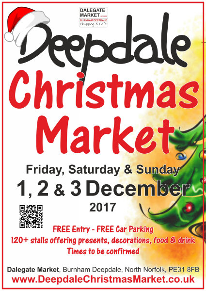 Deepdale Christmas Market 2017, Dalegate Market, Main Road, Burnham Deepdale, North Norfolk Coast, PE31 8FB | Stock up on all those Christmas decorations and presents at the Deepdale Christmas Market, while enjoying plenty of festive cheer, live music and excellent food & drink. | christmas market, festive cheer, presents, decorations, dalegate market, saturday, sunday, north norfolk coast, toys, gifts, jewellery, traditional, accessories, wines, meads, clothing, carols, food, drink