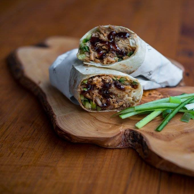 The Duck Truck - Crispy Duck Wraps. Crispy Duck, cucumber, spring onion and hoisin sauce, wrapped in a warmed 12
