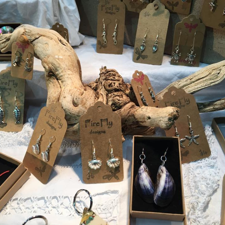 FireFly designs - FireFly designs uses a diverse range of materials including up cycled, found and everyday objects to create an eclectic range of original and unique jewellery and home decorations. - Deepdale Christmas Market - Christmas shopping for presents, decorations and great food & drink from 100+ stalls in large marquees around the Dalegate Market shops & café and in St Marys Church - A fabulous start to the festive season & a great reason to visit the beautiful North Norfolk Coast, England, UK - Friday 2nd, Saturday 3rd & Sunday 4th December 2016