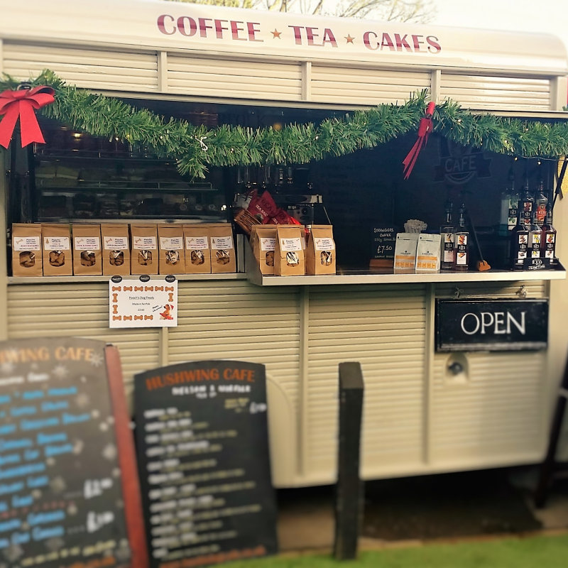 Hushwing Cafe - Bringing great locally roasted Coffee from Strangers of Norfolk and Tea's from the Nelson & Norfolk tea company along with our homemade yummy cakes. - Deepdale Christmas Market at Dalegate Market | Shopping & Cafe - Friday 1st, Saturday 2nd & Sunday 3rd December 2017 - Christmas shopping for presents, decorations and great food & drink from 120+ stalls in large marquees around the Dalegate Market shops & café and in St Marys Church at the Deepdale Christmas Market, North Norfolk Coast