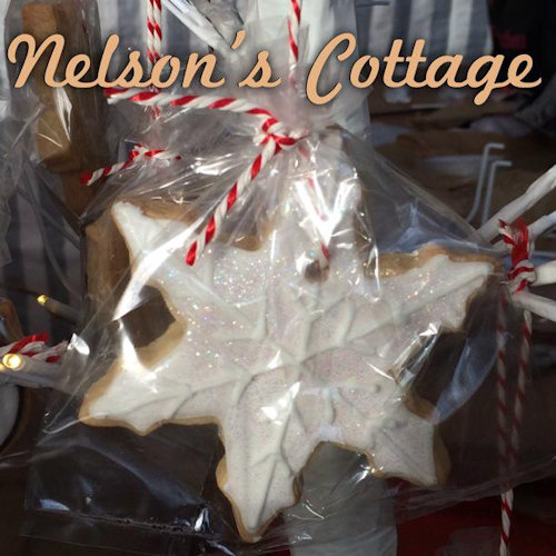Nelson's Cottage Bakery - Nelson's Cottage Bakery specialises in  hand decorated cookies, macarons, cake pops and mini iced Christmas cakes. Pick and mix vintage cake stands are also available from us! - Deepdale Christmas Market - Christmas shopping for presents, decorations and great food & drink from 90+ stalls in large marquees and the church and the Dalegate Market shops & caf� - A fabulous start to the festive season & a great reason to visit the beautiful North Norfolk Coast, England, UK - Friday 4th, Saturday 5th & Sunday 6th December 2015