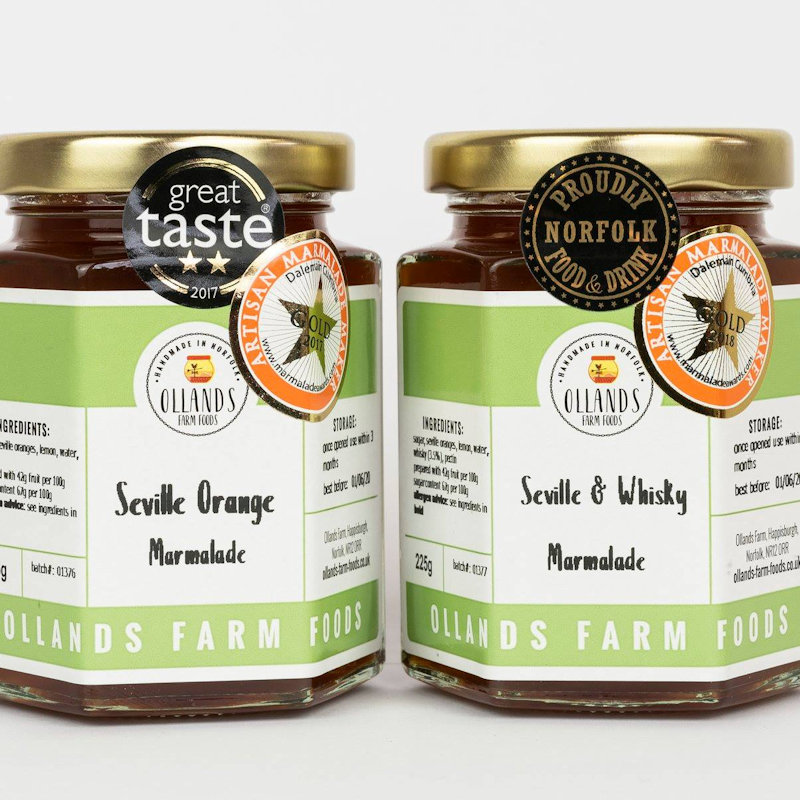 Ollands Farm Foods - Award-winning artisan preserves. Handmade on the North Norfolk coast using locally sourced ingredients where possible and traditional methods. Marmalades, jams, chutneys and condiments - Deepdale Christmas Market at Dalegate Market | Shopping & Cafe - Friday29th, Saturday 30th November and Sunday 1st December 2019 - Christmas shopping for presents, decorations and great food & drink from 130+ stalls in large marquees around the Dalegate Market shops & café and in St Marys Church at the Deepdale Christmas Market, North Norfolk Coast