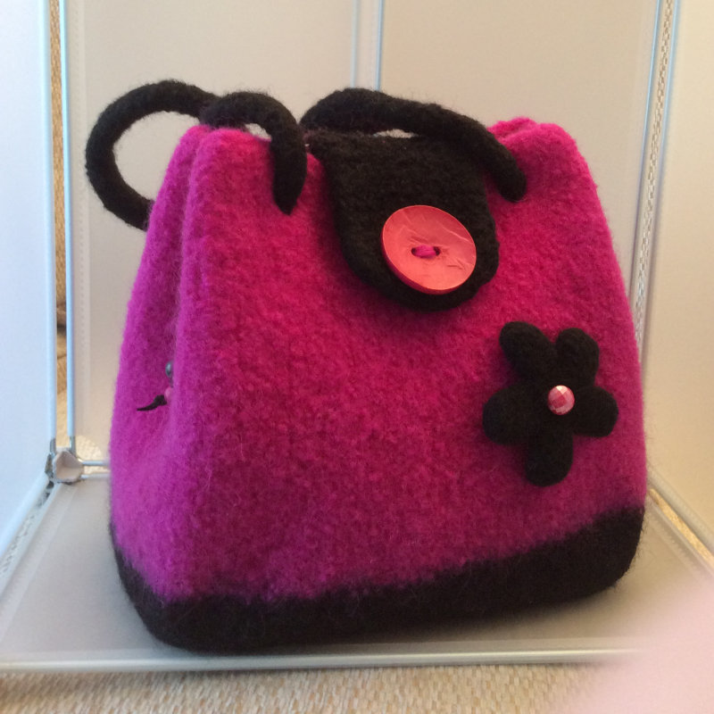 Polly's Felts & Textiles - A wonderful selection of felted handbags in glorious colours designed and made by Polly along with a collection of hand crochet items such as cushions, scarves and shawls and hand knitted socks. - Deepdale Christmas Market at Dalegate Market | Shopping & Cafe - Friday 1st, Saturday 2nd & Sunday 3rd December 2017 - Christmas shopping for presents, decorations and great food & drink from 120+ stalls in large marquees around the Dalegate Market shops & café and in St Marys Church at the Deepdale Christmas Market, North Norfolk Coast