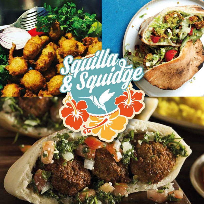 Squilla & Squidge Falafel Van - Authentic Middle Eastern street food.  Freshly fried falafel & grilled halloumi wraps, with crispy sweet potato fries, and delicious spicy soups.  Vegetarian & vegan food at it's best! - Deepdale Christmas Market at Dalegate Market | Shopping & Cafe - Friday 30th November, Saturday 1st & Sunday 2nd December 2017 - Christmas shopping for presents, decorations and great food & drink from 130+ stalls in large marquees around the Dalegate Market shops & café and in St Marys Church at the Deepdale Christmas Market, North Norfolk Coast