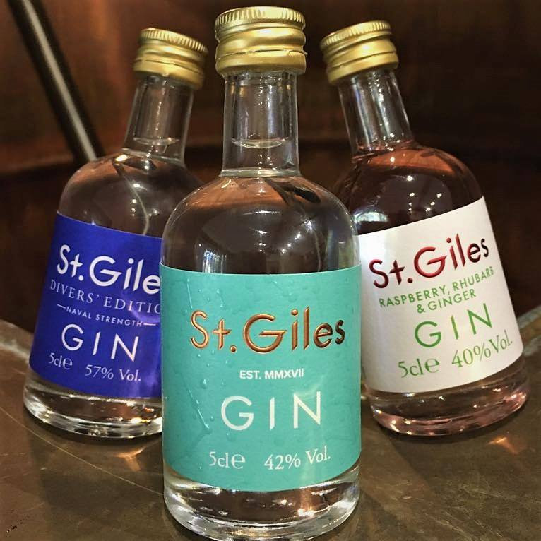 St Giles Gin - Award winning, independent, Norfolk based producer of high quality gin which includes the St.Giles, St. Giles Divers Edition and the St. Giles Raspberry Rhubarb and Ginger. - Deepdale Christmas Market at Dalegate Market | Shopping & Cafe - Friday 3rd to Sunday 5th December 2021 2019 - Christmas shopping for presents, decorations and great food & drink from 130+ stalls in large marquees around the Dalegate Market shops & café and in St Marys Church at the Deepdale Christmas Market, North Norfolk Coast