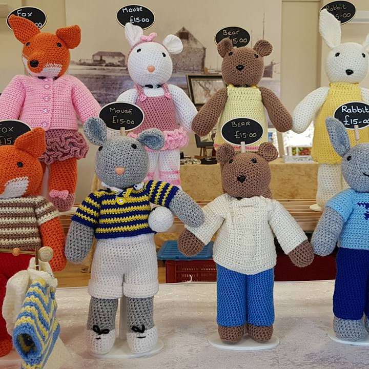 Thrift Cottage Crafts - Crochet animals, birds, dolls all handmade with love and all are CE marked so you can buy with confidence. - Deepdale Spring Market | Friday 29th to Sunday 31st March 2019
