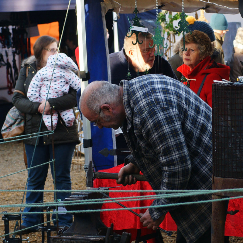 Westfield Forge & Crafts - Hand forged, bespoke iron work. Rob is a traditional Blacksmith,he produces functional and decorative items, all with a rustic hand hammered charm. Rob is also an experienced welder and fabricator.   - Deepdale Christmas Market at Dalegate Market | Shopping & Cafe - Friday 1st, Saturday 2nd & Sunday 3rd December 2017 - Christmas shopping for presents, decorations and great food & drink from 120+ stalls in large marquees around the Dalegate Market shops & café and in St Marys Church at the Deepdale Christmas Market, North Norfolk Coast