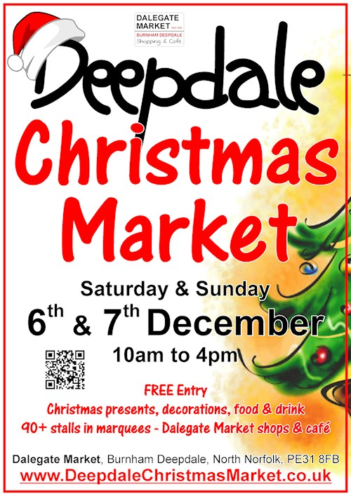 Celebrate Independent Shopping at Deepdale Christmas Market - Shop Local Saturday is on 6th December, so to mark this date Dalegate Market is very proud to host over 90 independent traders on Saturday 6th & Sunday 7th December, for the 6th annual Deepdale Christmas Market. - Dalegate Market | Shopping & Café, Burnham Deepdale, North Norfolk Coast, England, UK