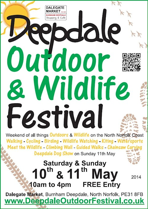 Deepdale Outdoor & Wildlife Festival | On Saturday 10th & Sunday 11th May, Dalegate Market and Deepdale Backpackers & Camping in Burnham Deepdale throw open their doors to welcome visitors, charities and activity organisations …