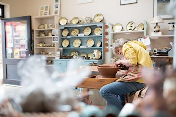 The Hare & The Hen Gallery & Craft Shop - You are in for a treat from the moment you approach the hare and the hen pottery and craft shop. This colourful light-filled shop is brimming with unusual, beautiful high quality handmade items made by crafts people locally and from further afield. - Deepdale Spring Market | Friday 29th to Sunday 31st March 2019
