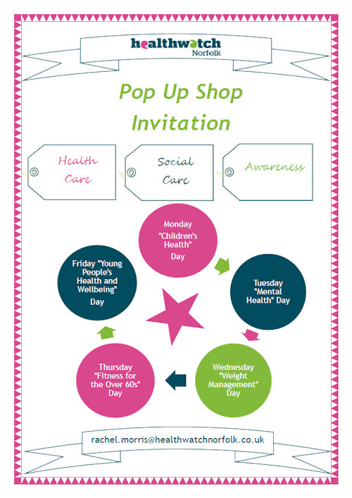 Healthwatch Norfolk | A special week in the pop up shops this week, as Dalegate Market will host Healthwatch Norfolk and associated charities. - Dalegate Market | Shopping & Café, Burnham Deepdale, North Norfolk Coast, England, UK