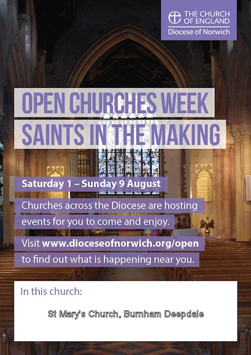 Norfolk Open Churches Week, Churches across Norfolk | Why not visit some beautiful churches and discover some of the fantastic history of Norfolk.  Starting with St Marys Church here in Burnham Deepdale, then moving onto the rest of the Saxon Shore Benefice and further afield.  History awaits! | Deepdale Backpackers & Camping Events, Courses & Activities