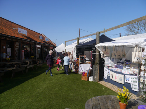 Deepdale Spring Market throws open its doors to welcome Spring to the North Norfolk Coast - More than thirty Norfolk artisans and producers have joined the shops and café of Dalegate Market for the Deepdale Spring Market this Easter bank holiday weekend.  Plants, crafts, art, food & drink are all on offer in the Dalegate Tent, ... - Dalegate Market | Shopping & Café, Burnham Deepdale, North Norfolk Coast, England, UK
