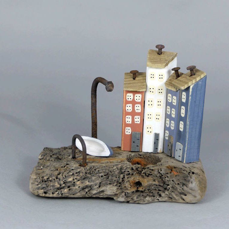 CoastinHome - CoastinHome handmade from British Driftwood and beach found goodies, home décor, including unique colourful little houses with rusty nail chimneys and Handmade British Driftwood Framed Coastal Images - Deepdale Spring Market | Friday 23rd to Sunday 25th March 2018