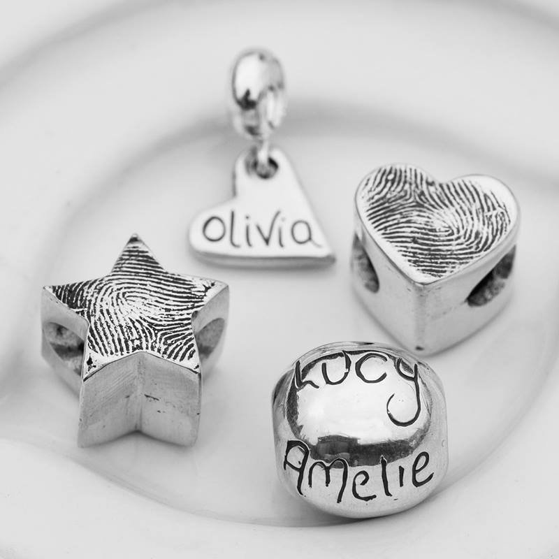 Beach Hut Charm - Jewellery personalised with your loved one's fingerprints, hand & foot prints, paw prints, baby scans or to mark a special occasion.