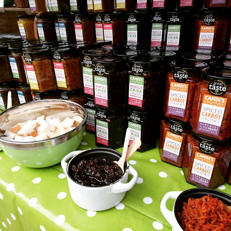 Candis Chutney - A Unique range of handmade & award winning Chutney made using solely Regionally & Seasonally grown produce from East Anglia, from our Original Parsnip & Chilli Chutney to our tasty Hot Pow Wow & more - Deepdale Spring Market - Spring shopping from Norfolk artisans and producers, 50+ stalls in a large marquee and the Dalegate Market shops & café - Another great reason to visit the beautiful North Norfolk Coast, England, UK - Friday 24th to Sunday 26th March 2017
