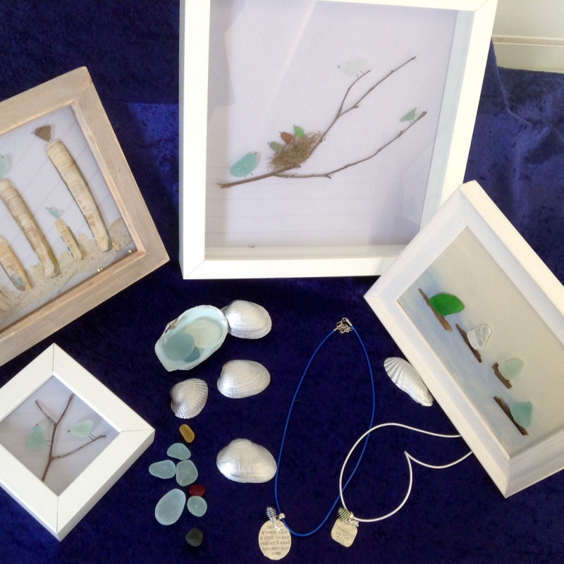 Creakey Crafts - An ever evolving and eclectic mix of coastal crafts from sea glass jewellery and unique pictures using sea glass, shells and driftwood to local map coasters and key rings  - Deepdale Spring Market | Friday 23rd to Sunday 25th March 2018