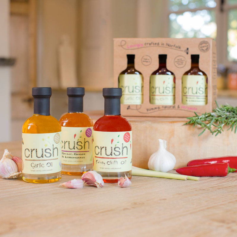 Crush Foods - Crush Foods produce a range of yummy products from our 'Own grown' cold pressed rapeseed oil to hand baked granola. 