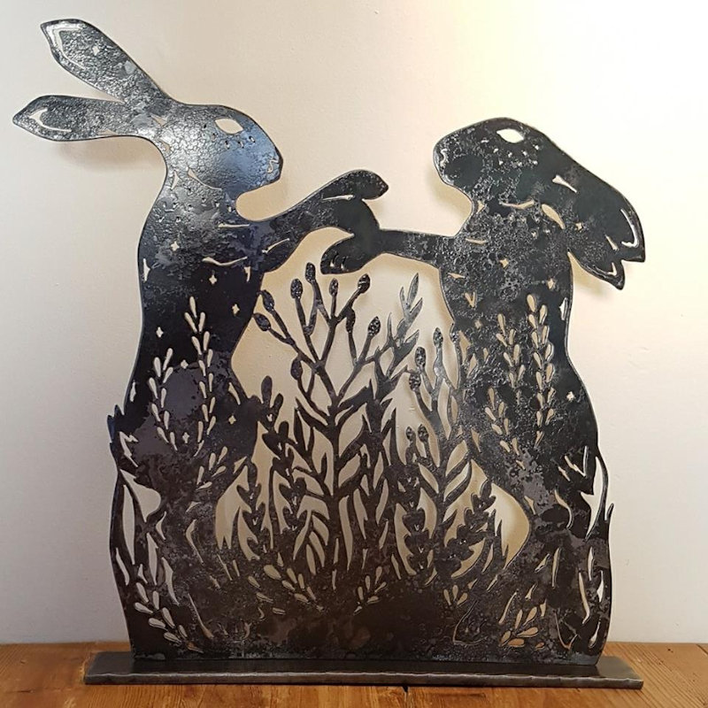 Holkham Forge - Hand-cut sculpture in steel, brass and copper, combined with traditionally made hot-forged steel sculpture, household and garden items.  - Deepdale Spring Market | Friday 29th to Sunday 31st March 2019