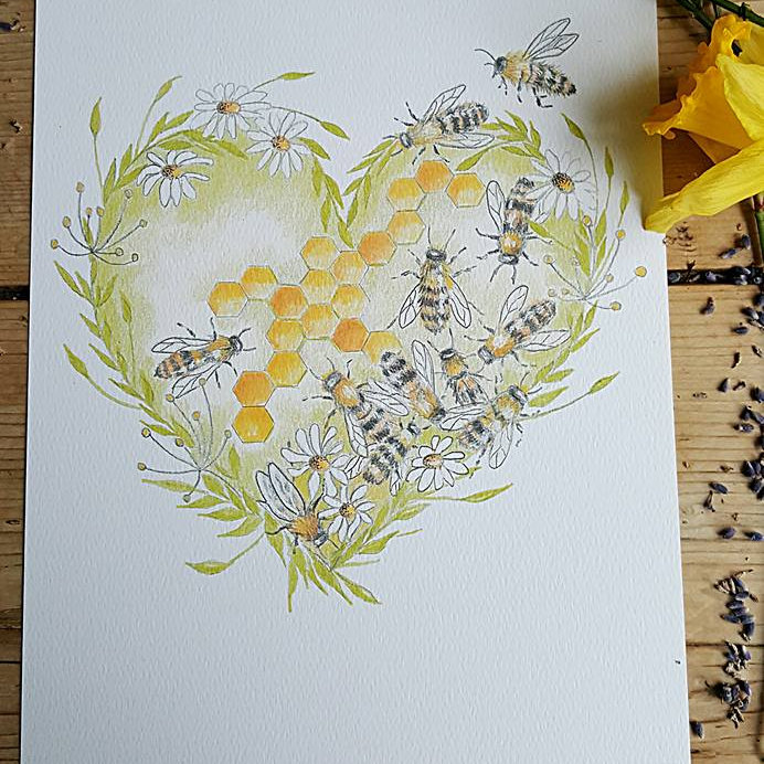 Louise Money Originals - Hand painted images of birds and wildlife taking inspiration from the coast and countryside of Norfolk. The images are produced on cards, prints, stationery, ceramics and textiles - Deepdale Spring Market | Friday 27th to Sunday 29th March 2020