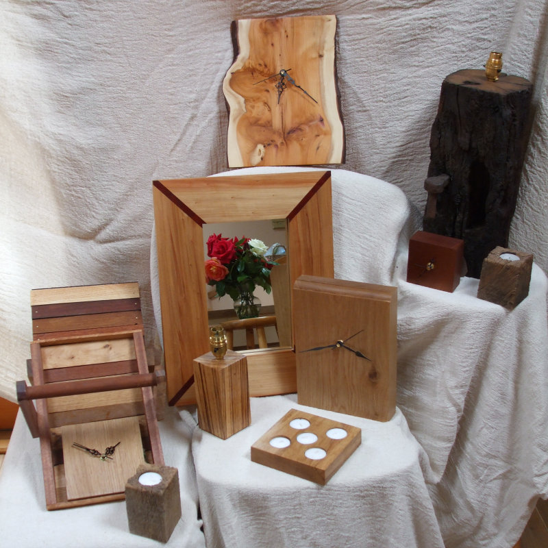 Newleaf Woodcraft - Norfolk based creator of unique wooden items for the home and garden. From table lamps to tea light holders, via clocks, door stops and plant labels, all hand made from reclaimed and new woods. - Deepdale Spring Market | Friday 23rd to Sunday 25th March 2018