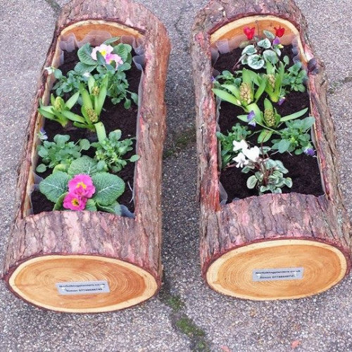 Norfolk Log Planters - I handmake garden planters and feature pieces from trees. I also make homeware items from wood, logs and trees - Deepdale Spring Market | Friday 23rd to Sunday 25th March 2018
