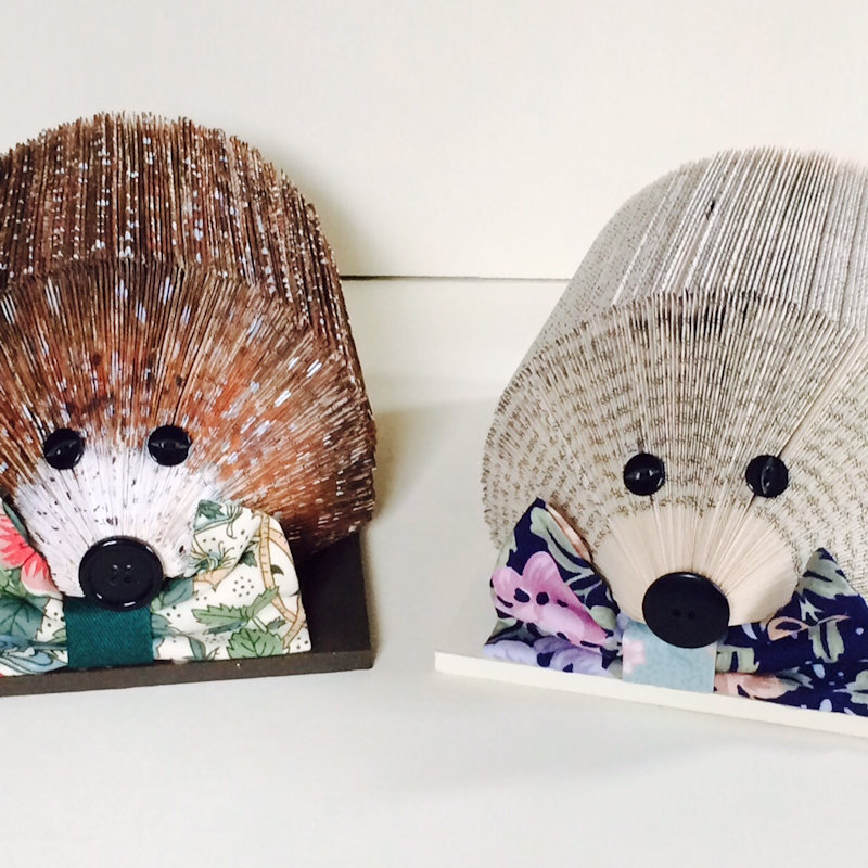 Novel Hogs etc - Our amazing hedgehog paper tidies make unusual and wonderful gifts. We recycle unwanted books and help support hedgehog welfare. - Deepdale Spring Market | Friday 23rd to Sunday 25th March 2018