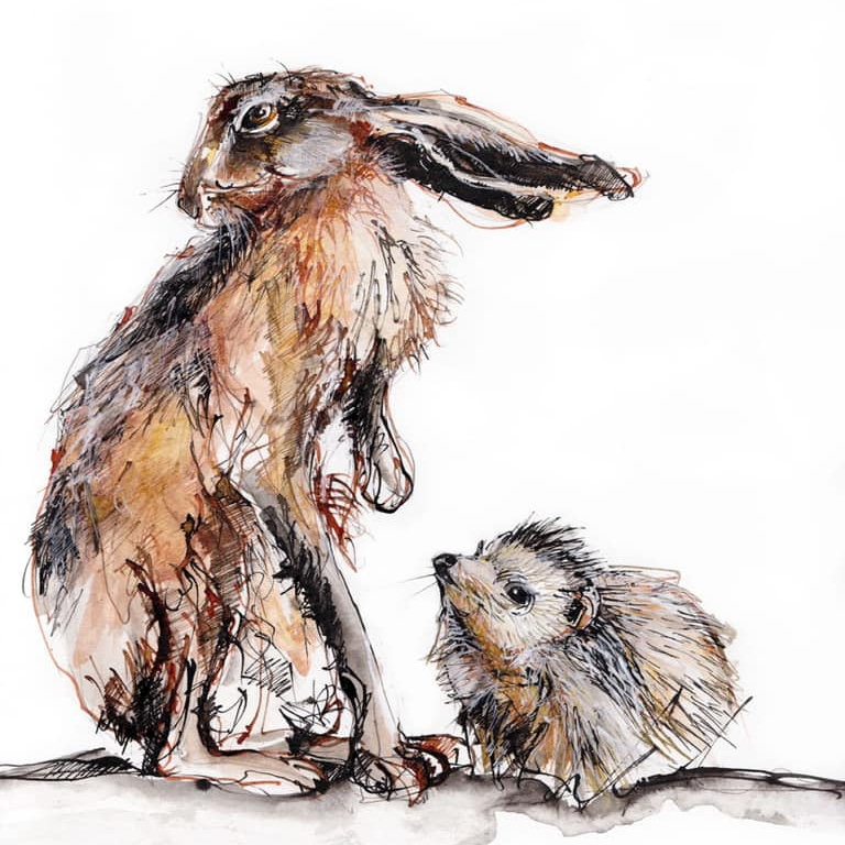 Creative With Line - Rachel makes drawings that connect with nature, representing a chance glimpse of an animal in the wild, adding a suggested narrative. She makes images using ink, pencil and linocuts. - Deepdale Spring Market | Friday 27th to Sunday 29th March 2020