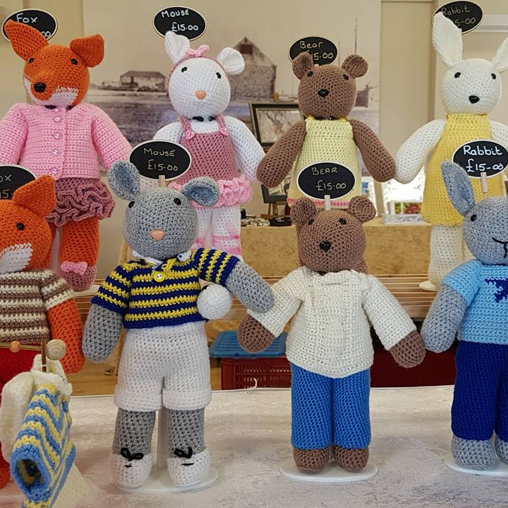 Thrift Cottage Crafts - An offering of something different and unique in a range of crochet animals, birds, dolls and fruit, veg and calorie free cakes. All items are toy safety CE compliant. - Deepdale Spring Market | Friday 27th to Sunday 29th March 2020