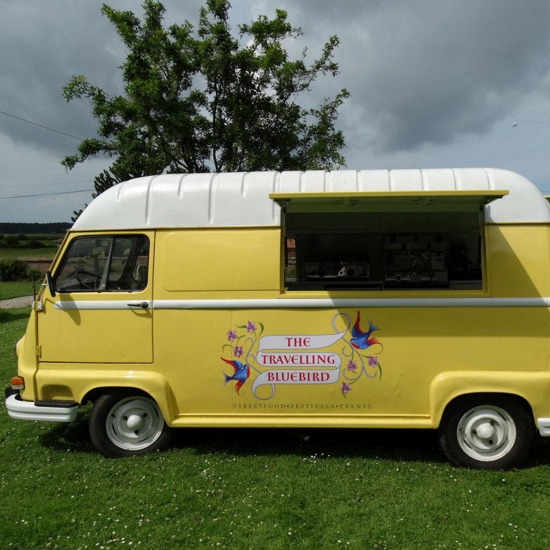 The Travelling Bluebird - The Travelling Bluebird is a beautiful vintage van selling 'posh' toasties, organic soft drinks, smoothies and fresh coffee and tea. - Deepdale Spring Market | Friday 23rd to Sunday 25th March 2018