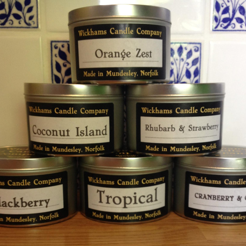 Wickhams Candle Company - Wickhams is a Norfolk based business and all our candles are hand-made at our home in Mundesley. We offer both scented and decorative candles. - Deepdale Spring Market | Friday 23rd to Sunday 25th March 2018