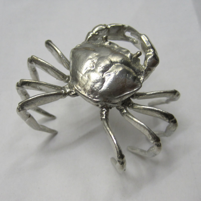 Yvonne Law Pewter - Hand cast lead free pewter from handmade silicon rubber mounds. Salt cellars and spoons. Full size, walnut, poppy, acorn and cabbage leaf containers, langoustines,hermit crabs and jewellery. - Deepdale Spring Market | Friday 29th to Sunday 31st March 2019